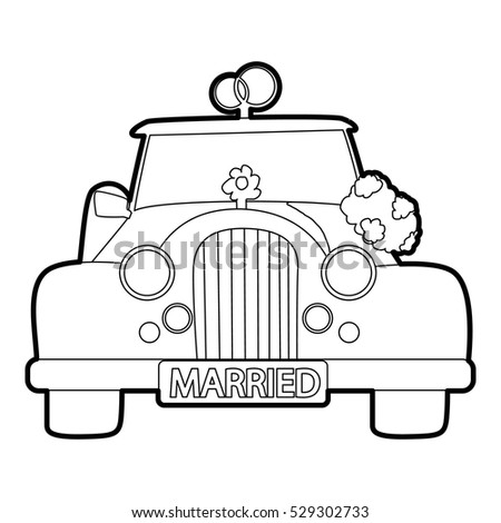 Wedding Car Icon Outline Illustration Of Vector For Web