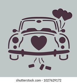 Wedding car stencil