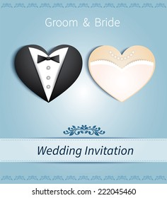 Wedding Invitation Empty Card Template Images Stock Photos