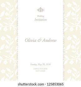 Wedding card, invitation card
