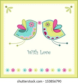 Wedding card, vector