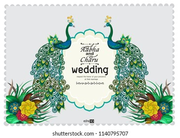 Hinduweddingcarddesigns Stock Illustrations Images