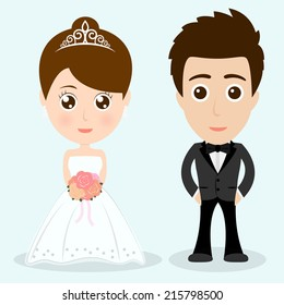 wedding cartoon character eps 10 vector illustration