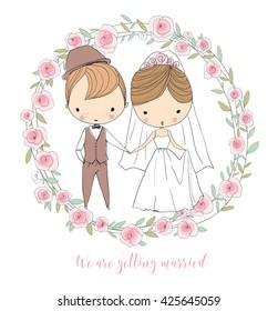 Wedding ceremony - bride and groom.