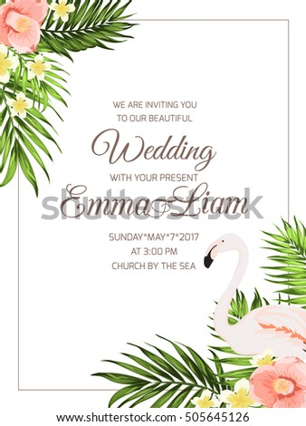 wedding ceremony invitation template text placeholder のベクター