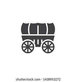 Wedding Coach vector icon. Stagecoach filled flat sign for mobile concept and web design. Horse carriage wagon glyph icon. Symbol, logo illustration. Vector graphics