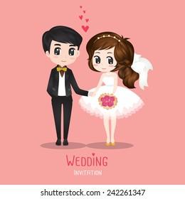 Wedding Couple Card vector