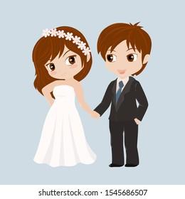 Wedding couple. Cute vector illustration