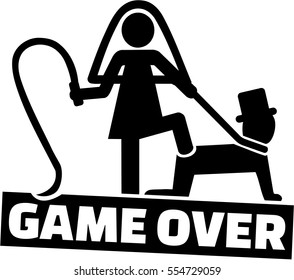 Wedding couple - game over for the man