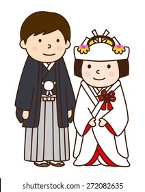 Wedding couple / japanese kimono