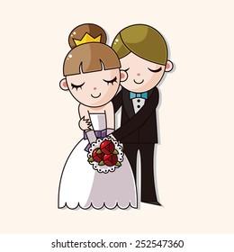 wedding couple theme elements vector,eps