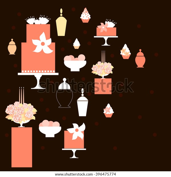 Phenomenal Wedding Dessert Bar Cake Birthday Sweet Stock Vector Download Free Architecture Designs Rallybritishbridgeorg