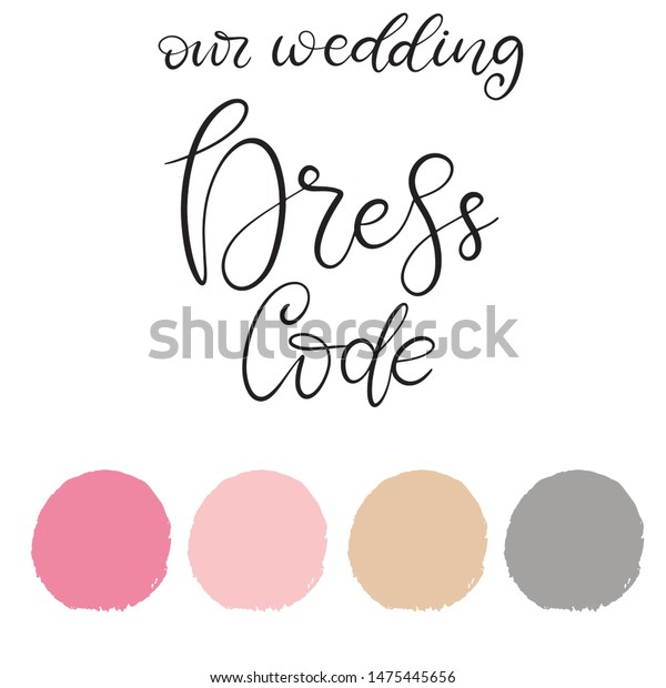 Wedding Dress Code Color Palette Vector Stock Vector