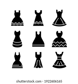 wedding dress icon or logo isolated sign symbol vector illustration - Collection of high quality black style vector icons