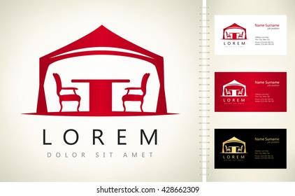 wedding or entertainment tent logo