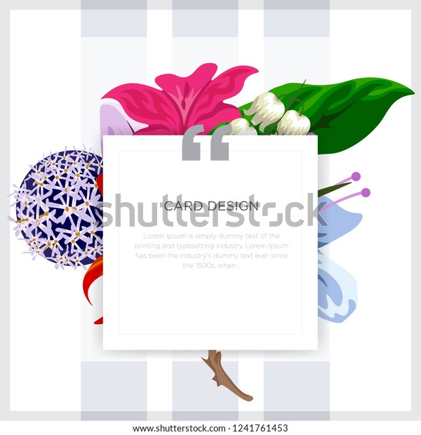 Wedding Event Invitation Card Design Tropical Stock Image