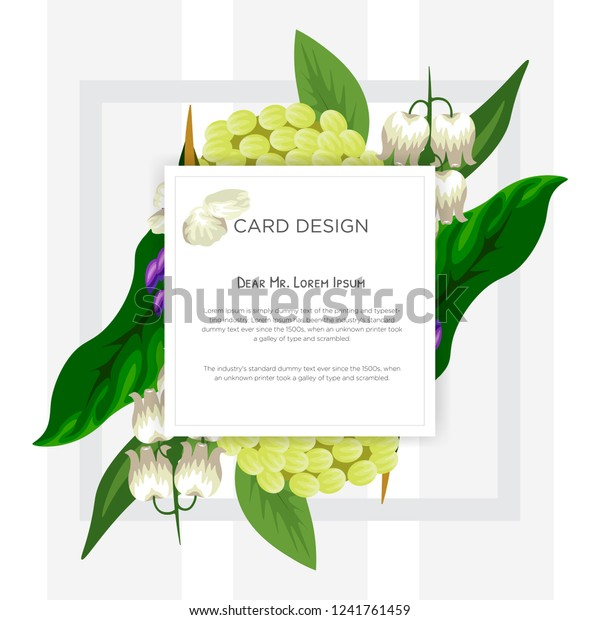 Wedding Event Invitation Card Design Tropical Stock Vector
