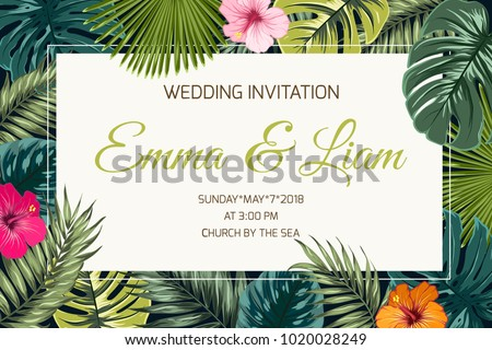 Wedding Event Invitation Card Template Exotic Stock Vector Royalty