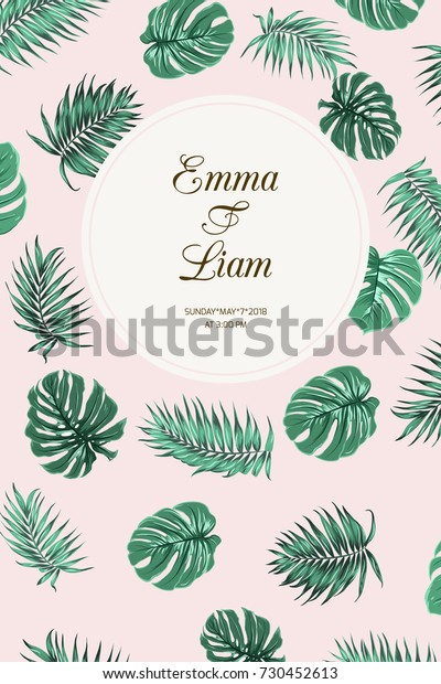 Wedding Event Invitation Card Template Exotic Stock Image