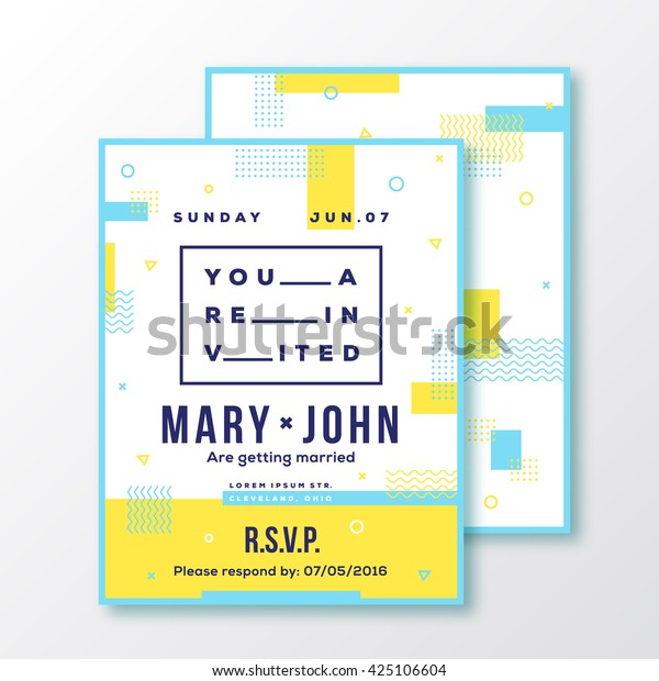 Wedding Event Party Invitation Card Poster Stock Image