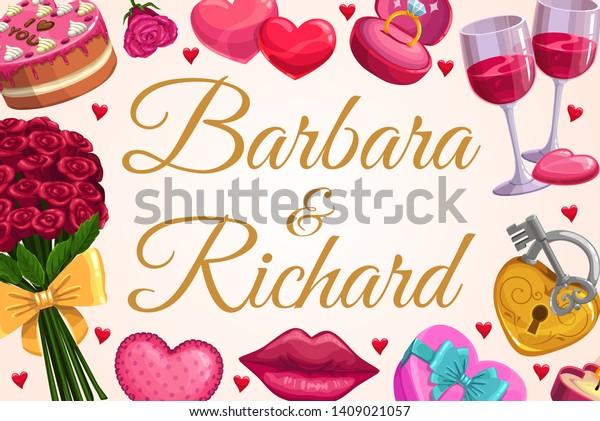 Wedding Gifts Love Hearts Bride Groom Stock Image Download Now