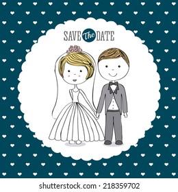 wedding graphic design , vector illustration