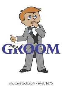 Wedding Groom red hair blue eyes