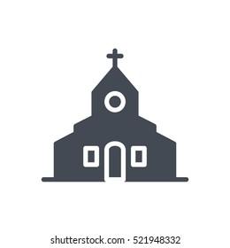 Wedding Icon Glyph Solid Vector Church silhouette