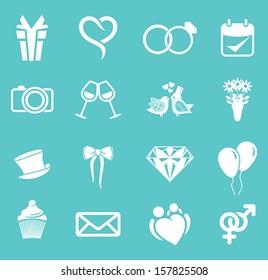 wedding icon set