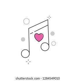 Wedding Icons Tone Love with Outline Filled Style