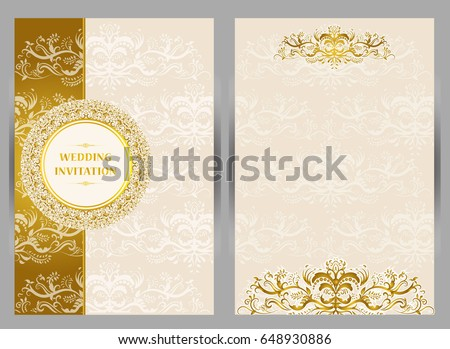 Wedding Invitation Card Abstract Background Islam Image Vectorielle