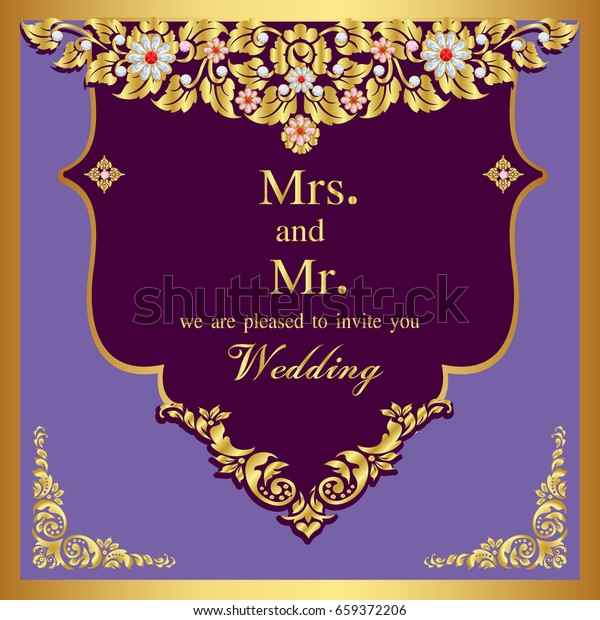 Wedding Invitation Card Abstract Background Template Stock