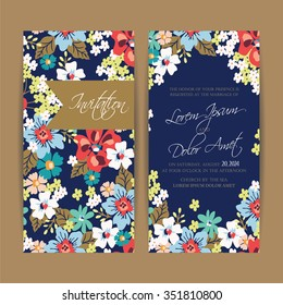 Wedding invitation card or announcement .