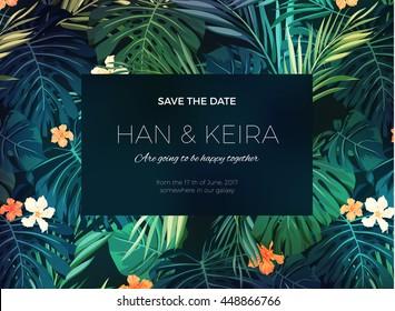 Blank Invitation Plants Stock Illustrations Images