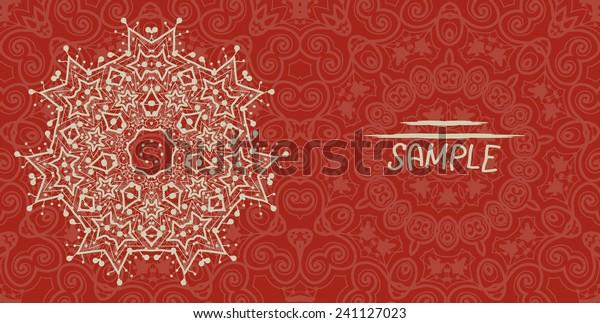 Wedding Invitation Card Design Made Tribal Stock Vector