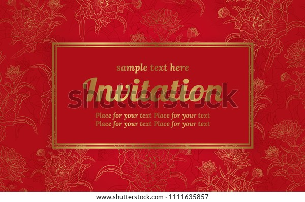 Wedding Invitation Card Design Vector Illustration Stock Vector
