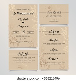 Wedding invitation card details card save stock vector royalty free wedding invitation card details card save the date card menu card wedding stopboris Image collections