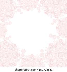 Wedding invitation card floral pattern background vector illustration