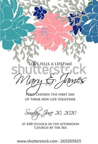 Wedding Invitation Card Wedding Graphic Set Stock Vector Royalty