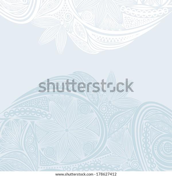 Wedding Invitation Card Nature Pattern Background Stock