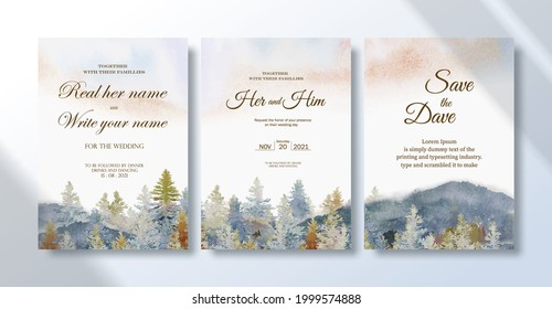 Mountain Wedding Invitation Hd Stock Images Shutterstock