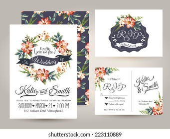 Wedding Invitation Template Images Stock Photos Vectors