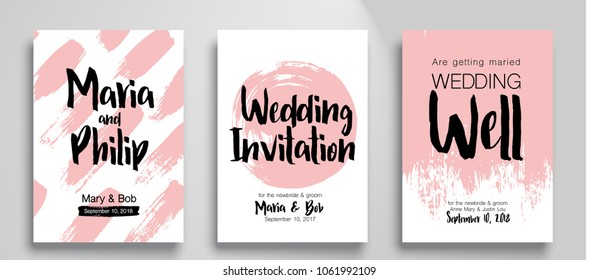 wedding invitation card suite templates cool stock vector royalty