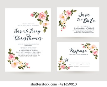 floral wedding invitation images stock photos vectors shutterstock