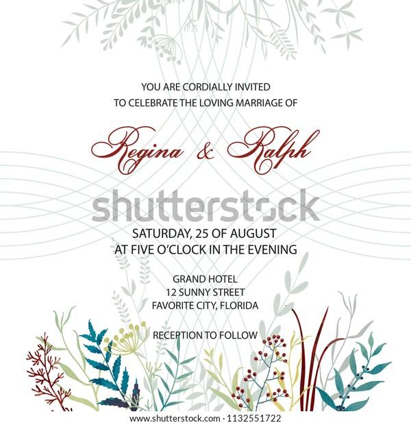 Wedding Invitation Card Template Invitation Delicate Stock