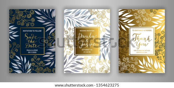 Wedding Invitation Card Template Eps 10 Stock Image
