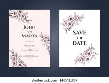 Nature Wedding Invitation Template Stock Vectors Images Vector