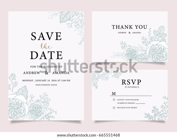 Wedding Invitation Card Template Text Stock Vektorgrafik Lizenzfrei