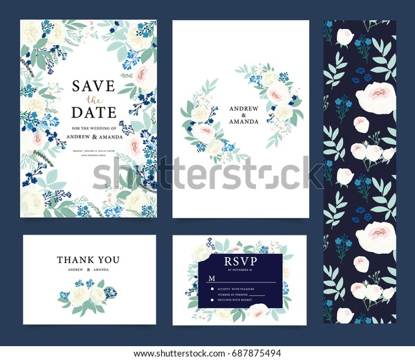 Wedding Invitation Card Template Text Stock Vector (Royalty Free ...