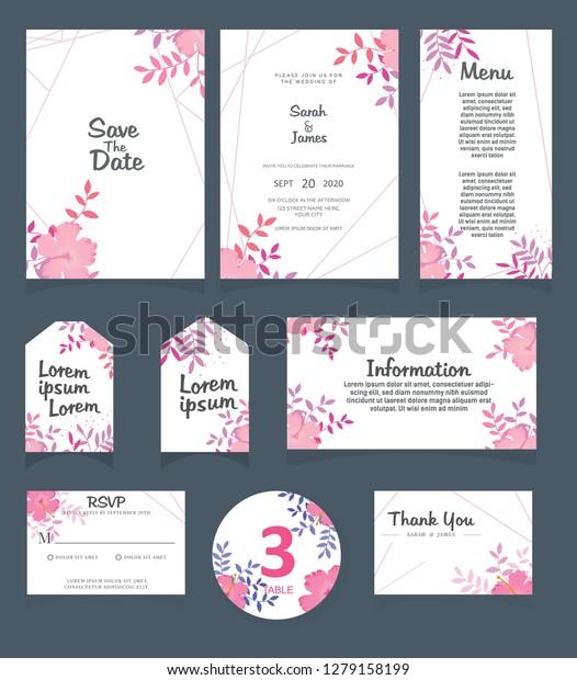 Wedding Invitation Card Template Wedding Invitation Stock Vector ...